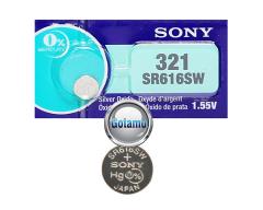 321 SR616SW 1vnt Sony baterija elementas