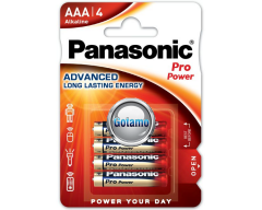 AAA LR03 4vnt Panasonic Pro Power baterijos elementai