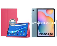 DENVER dėklas Samsung Galaxy Tab S6 Lite planšetėms tamsiai rožinės spalvos