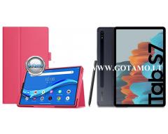 DENVER dėklas Samsung Galaxy Tab S7 planšetėms tamsiai rožinės spalvos
