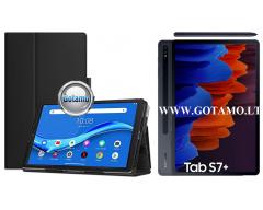 DENVER dėklas Samsung Galaxy Tab S7+ Samsung Galaxy Tab S7 FE planšetėms juodos spalvos