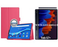 DENVER dėklas Samsung Galaxy Tab S7+ Samsung Galaxy Tab S7 FE planšetėms tamsiai rožinės spalvos