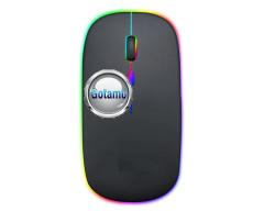 Bevielė pelė Re-A5 Luminuos juodos spalvos įkraunama