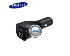 Auto kroviklis USB 2 lizdų 5V 2A greito įkrovimo Originalus Samsung EP-LN920U juodos spalvos