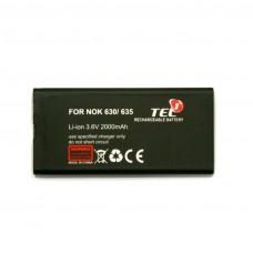 Akumuliatorius baterija Nokia 630 635 mobiliesiems telefonams didesnės talpos