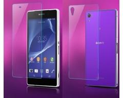 Apsauga ekranui ir nugarėlei grūdintas stiklas Sony Xperia Z1 mobiliesiems telefonams