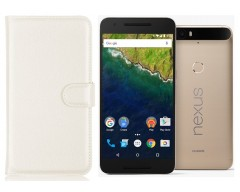 Diary Mate dėklas Huawei Nexus 6P mobiliesiems telefonams baltos spalvos