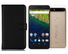 Diary Mate dėklas Huawei Nexus 6P mobiliesiems telefonams juodos spalvos