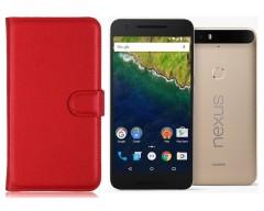 Diary Mate dėklas Huawei Nexus 6P mobiliesiems telefonams raudonos spalvos