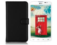 Diary Mate dėklas LG L80 mobiliesiems telefonams juodos spalvos