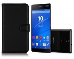 Diary Mate dėklas Sony Xperia C5 Ultra mobiliesiems telefonams juodos spalvos