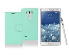 Goospery Sonata Diary dėklas Samsung Galaxy Note edge mobiliesiems telefonams mėtinės spalvos