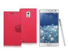 Goospery Sonata Diary dėklas Samsung Galaxy Note edge mobiliesiems telefonams rožinės spalvos