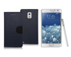 Goospery Sonata Diary dėklas Samsung Galaxy Note edge mobiliesiems telefonams tamsiai mėlynos spalvos