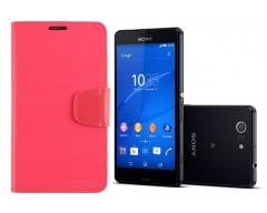 Goospery Sonata Diary dėklas Sony Xperia Z3 Compact mobiliesiems telefonams rožinės spalvos