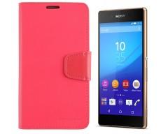 Goospery Sonata Diary dėklas Sony Xperia Z3+  mobiliesiems telefonams rožinės spalvos