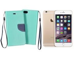 Manager dėklas Apple iPhone 6 Plus 6s Plus mobiliesiems telefonams mėtinės spalvos