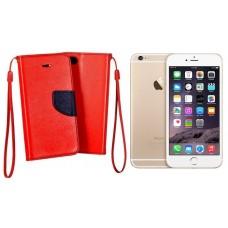 Manager dėklas Apple iPhone 6 Plus 6s Plus mobiliesiems telefonams raudonos spalvos