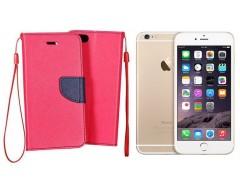 Manager dėklas Apple iPhone 6 Plus 6s Plus mobiliesiems telefonams rožinės spalvos