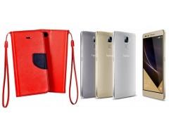 Manager dėklas Huawei Honor 7 mobiliesiems telefonams raudonos spalvos