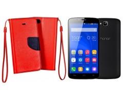 Manager dėklas Huawei Honor Holly mobiliesiems telefonams raudonos spalvos