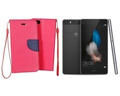 Manager dėklas Huawei P8 Lite mobiliesiems telefonams rožinės spalvos