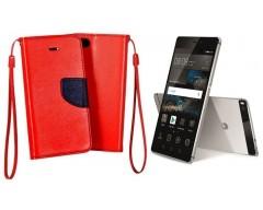 Manager dėklas Huawei P8 mobiliesiems telefonams raudonos spalvos