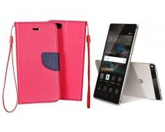 Manager dėklas Huawei P8 mobiliesiems telefonams rožinės spalvos