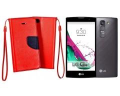 Manager dėklas LG G4c mobiliesiems telefonams raudonos spalvos