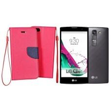 Manager dėklas LG G4c mobiliesiems telefonams rožinės spalvos