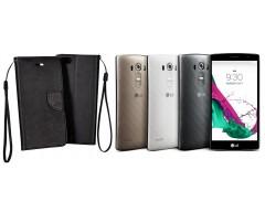 Manager dėklas LG G4s G4 Beat mobiliesiems telefonams juodos spalvos