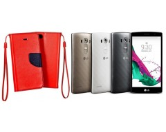Manager dėklas LG G4s G4 Beat mobiliesiems telefonams raudonos spalvos