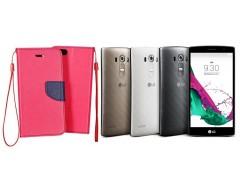 Manager dėklas LG G4s G4 Beat mobiliesiems telefonams rožinės spalvos