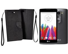 Manager dėklas LG Leon mobiliesiems telefonams juodos spalvos