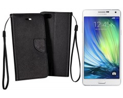 Manager dėklas Samsung Galaxy A7 mobiliesiems telefonams juodos spalvos