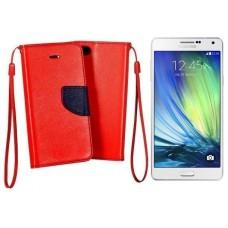 Manager dėklas Samsung Galaxy A7 mobiliesiems telefonams raudonos spalvos