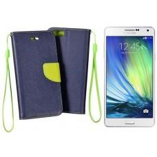 Manager dėklas Samsung Galaxy A7 mobiliesiems telefonams tamsiai mėlynos spalvos
