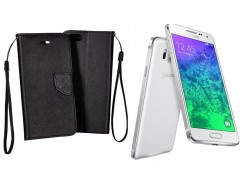 Manager dėklas Samsung Galaxy Alpha mobiliesiems telefonams juodos spalvos