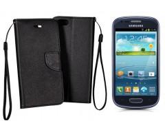 Manager dėklas Samsung Galaxy S3 mini mobiliesiems telefonams juodos spalvos