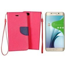 Manager dėklas Samsung Galaxy S6 edge+ mobiliesiems telefonams rožinės spalvos