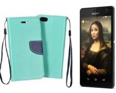 Manager dėklas Sony Xperia C4 mobiliesiems telefonams mėtinės spalvos