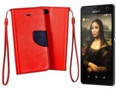 Manager dėklas Sony Xperia C4 mobiliesiems telefonams raudonos spalvos