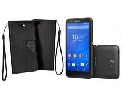 Manager dėklas Sony Xperia E4 mobiliesiems telefonams juodos spalvos