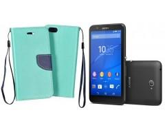 Manager dėklas Sony Xperia E4 mobiliesiems telefonams mėtinės spalvos