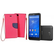 Manager dėklas Sony Xperia E4 mobiliesiems telefonams rožinės spalvos
