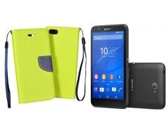 Manager dėklas Sony Xperia E4 mobiliesiems telefonams salotinės spalvos