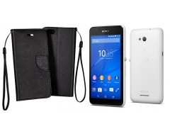 Manager dėklas Sony Xperia E4g mobiliesiems telefonams juodos spalvos