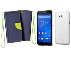 Manager dėklas Sony Xperia E4g mobiliesiems telefonams mėlynos spalvos