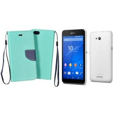 Manager dėklas Sony Xperia E4g mobiliesiems telefonams mėtinės spalvos