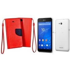Manager dėklas Sony Xperia E4g mobiliesiems telefonams raudonos spalvos Vilnius   Plungė   Telšiai